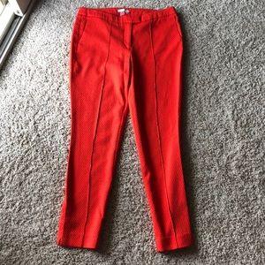 Dalia Orange Ankle Pants